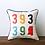Thumbnail: Multicolor Zip Code Square Pillow
