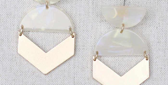 Pia Earrings - Pearl
