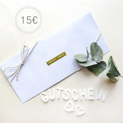 Geschenkgutschein 15€