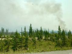 Kanada #16   Hot Springs und Wildfire auf dem Weg von Golden >> Canmore