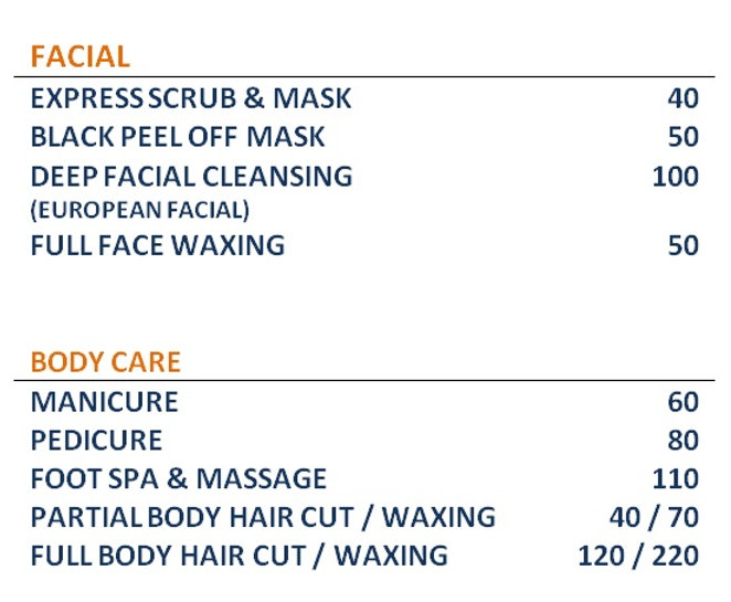 Barbershop Price List