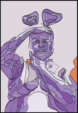 a Purple Michael