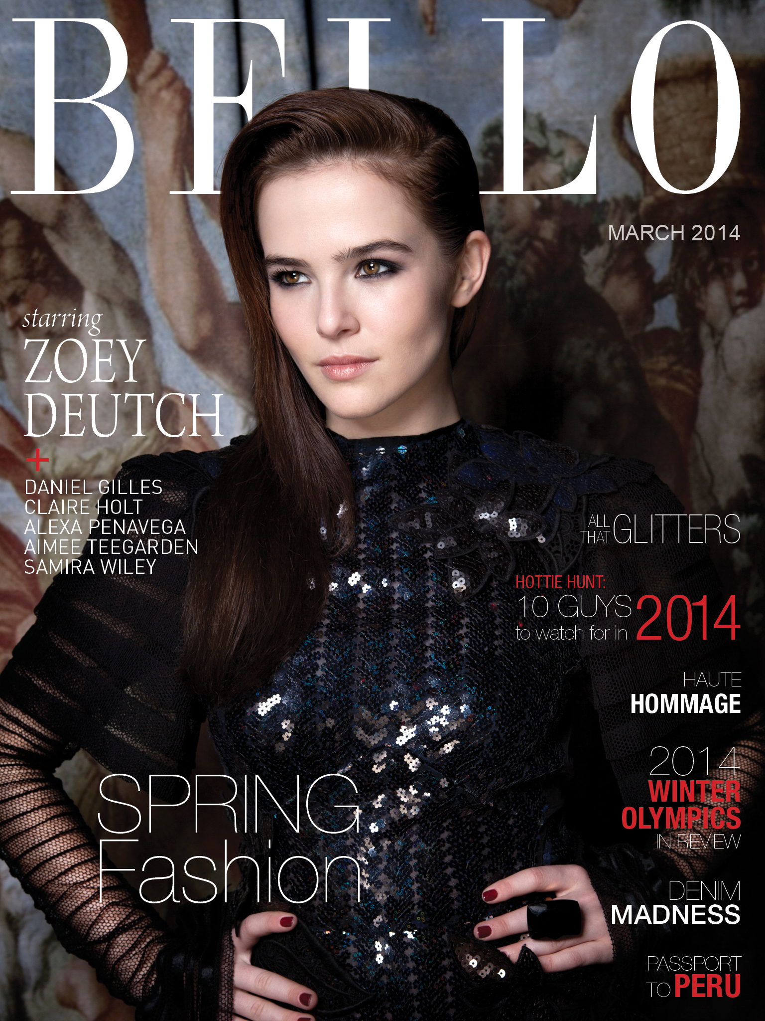 Bello Magazine Zoey Deutch Cover March 2014 in Marc Jacobs