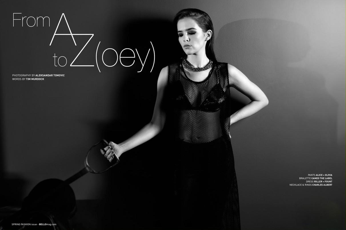 Zoey Deutch Bello Magazine 1