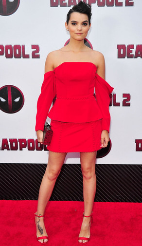 Brianna Hildebrand Deadpool Screening Ne