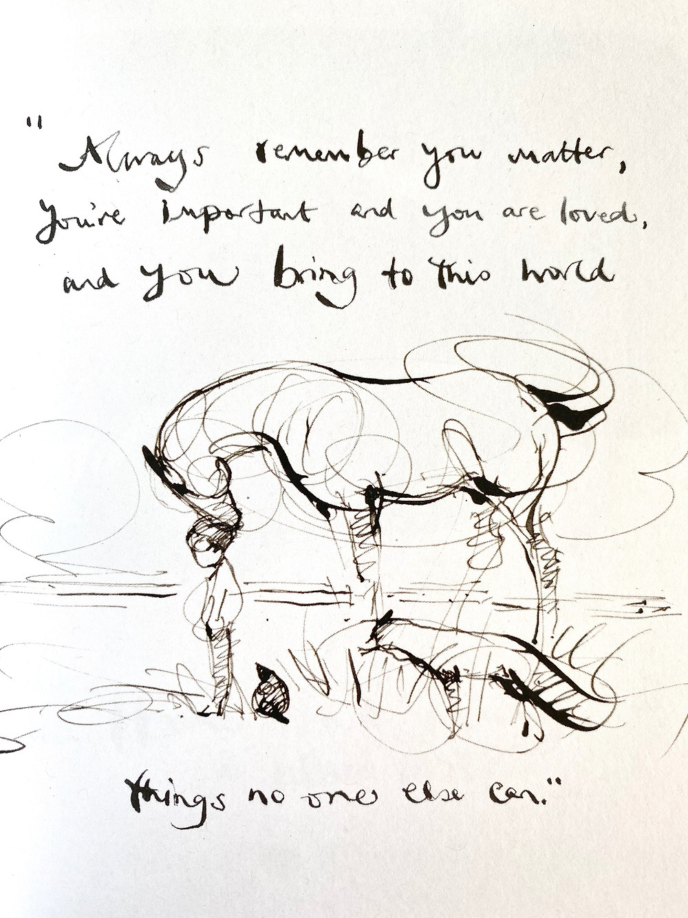 Charlie Mackesy: Always remember you matter...