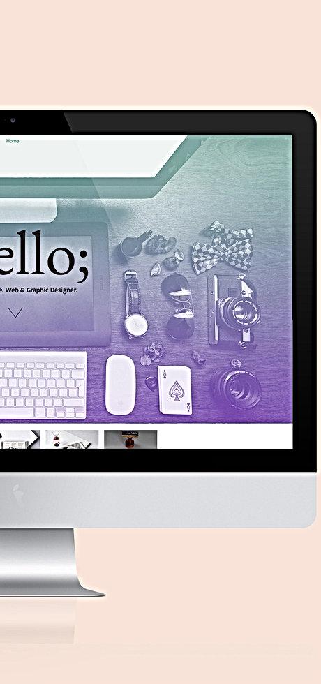 Website design in progress for small business