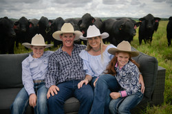 Silvester Family with Brangus Bulls