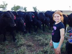 Heidi Silvester with Bulls
