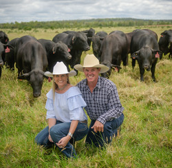 Michael & Kellie Silvester with Bull