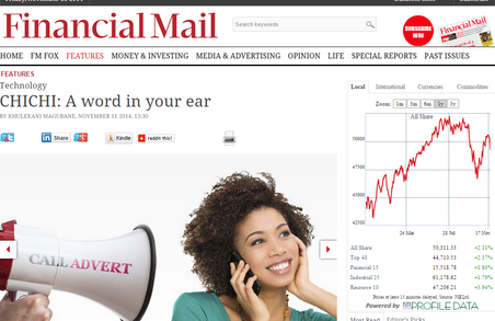 ChiChi Sponsored Call on The Financial Mail