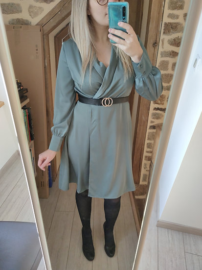 Robe Chic Vert-de-gris