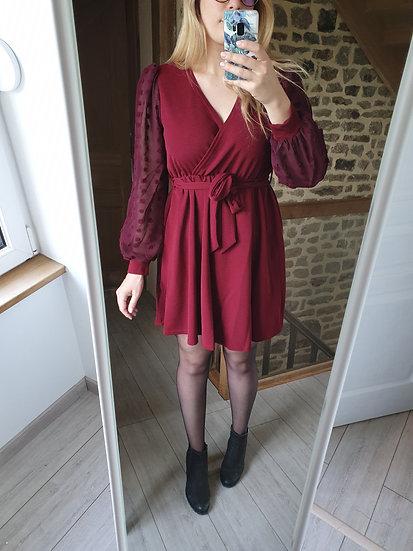 Robe Rouge/Bordeaux Pois