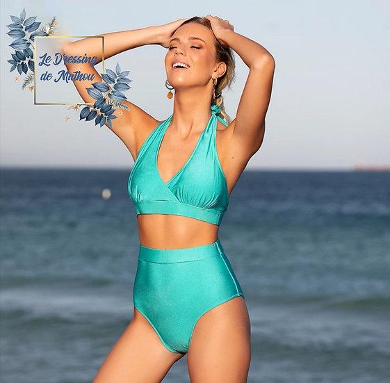 Bikini Vert Satiné