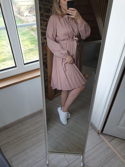 Robe Rose Mat Plissee