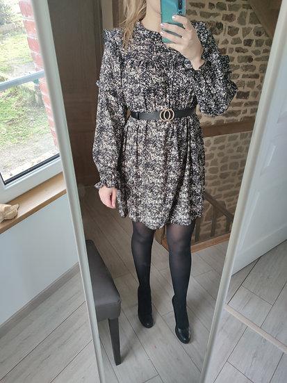 Robe Imprimé Noir et Blanc