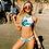Thumbnail: Bikini Blanc, Vert & Rose