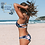 Thumbnail: Bikini Marine & Fleurs Liseré Blanc