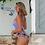 Thumbnail: Bikini Lila & Prune Motif Feuilles