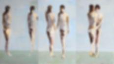 5 ENCUENTRO, OLEO-TELA, 83 X 150 CM. (TR