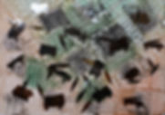 1231 METATES II, MIXTA-PAPEL, 50 X 70 CM