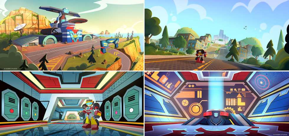 Main location concepts for Rescue Bots Academy
