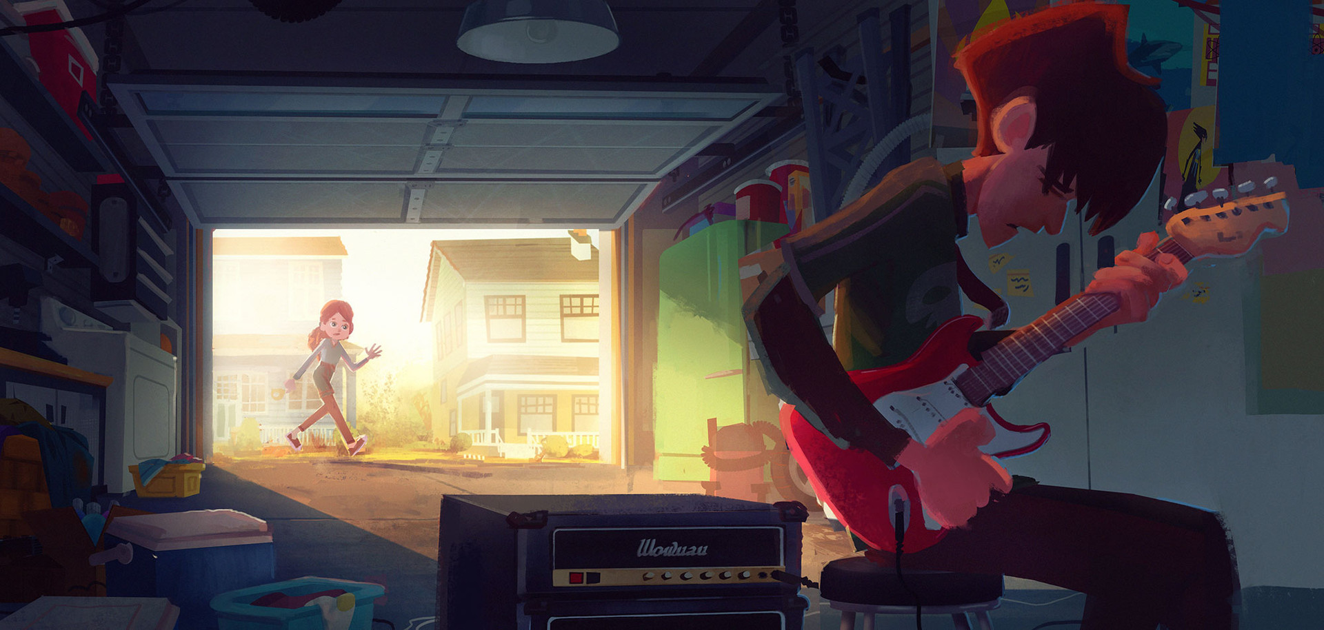 Visual development piece for a cancelled feature production