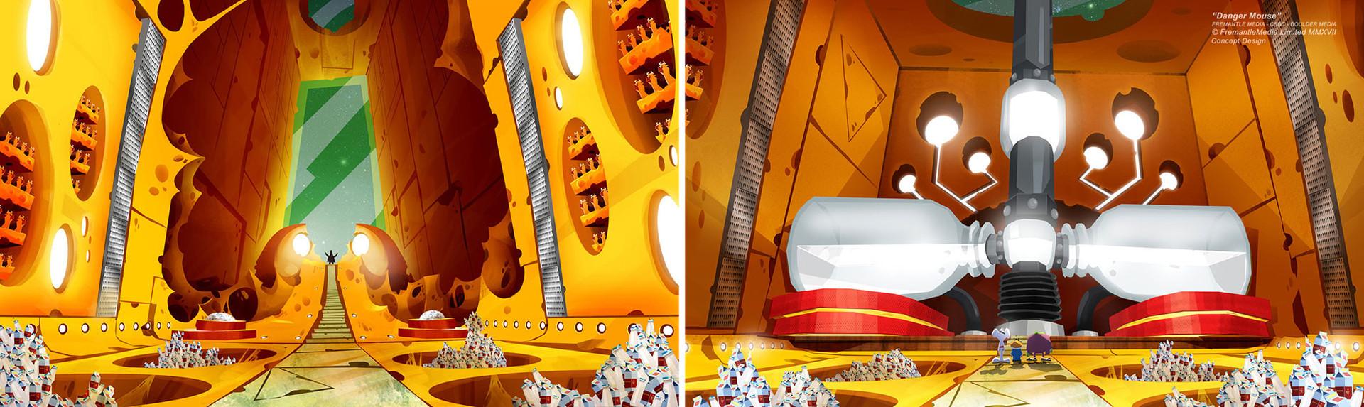 Danger Mouse - Concept Design - Cheese Spacecraft