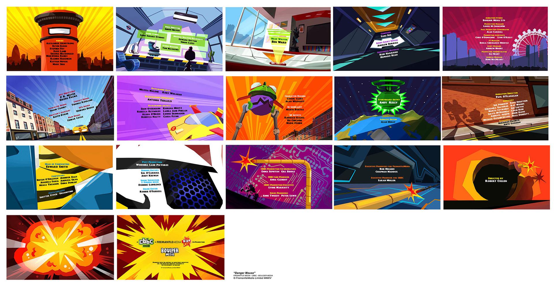 Danger Mouse - End Credits Design