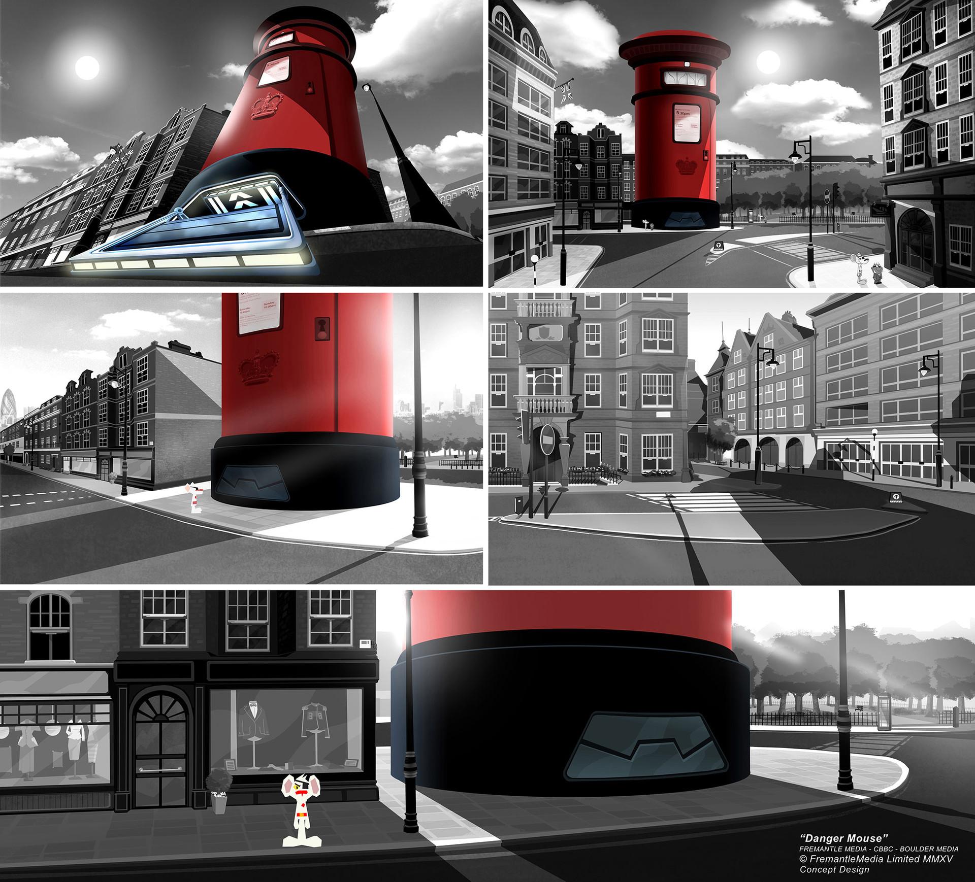 Danger Mouse - Concept Design for HQ
