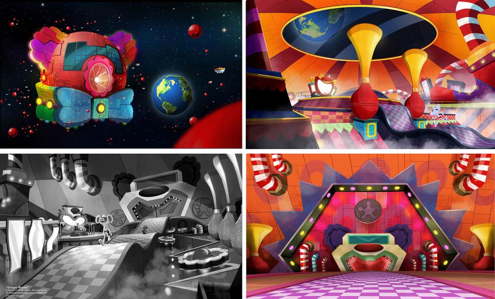 Danger Mouse - Concept Design - Clown Space station