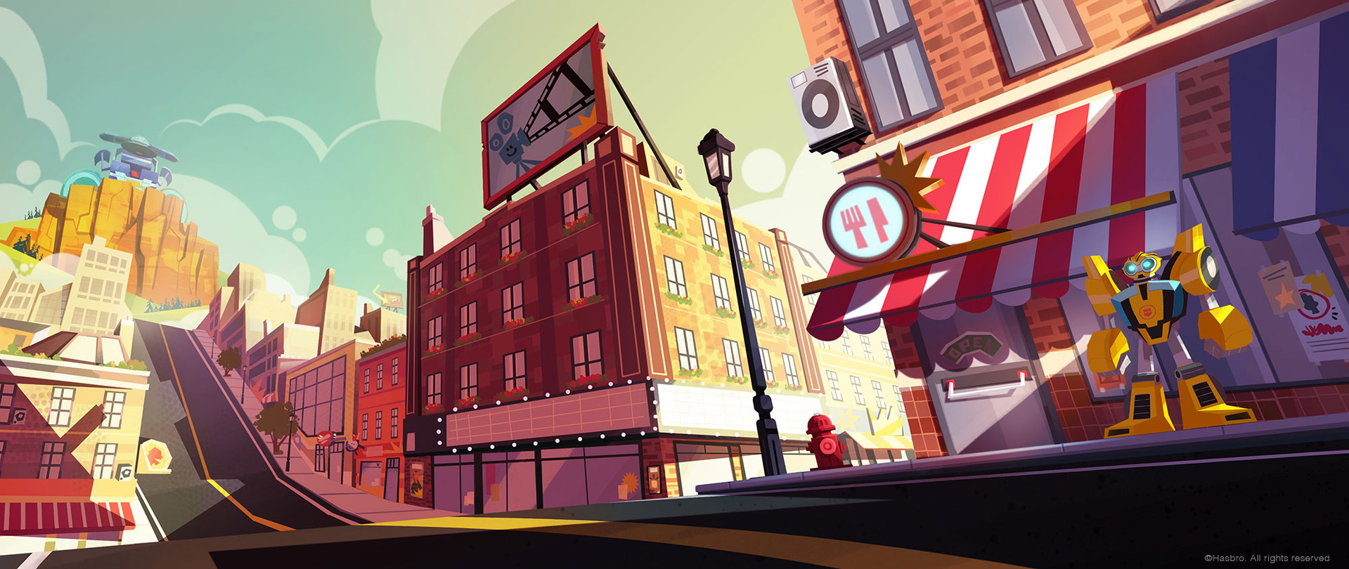 Visual exploration and look proposal for Rescue Bots Academy