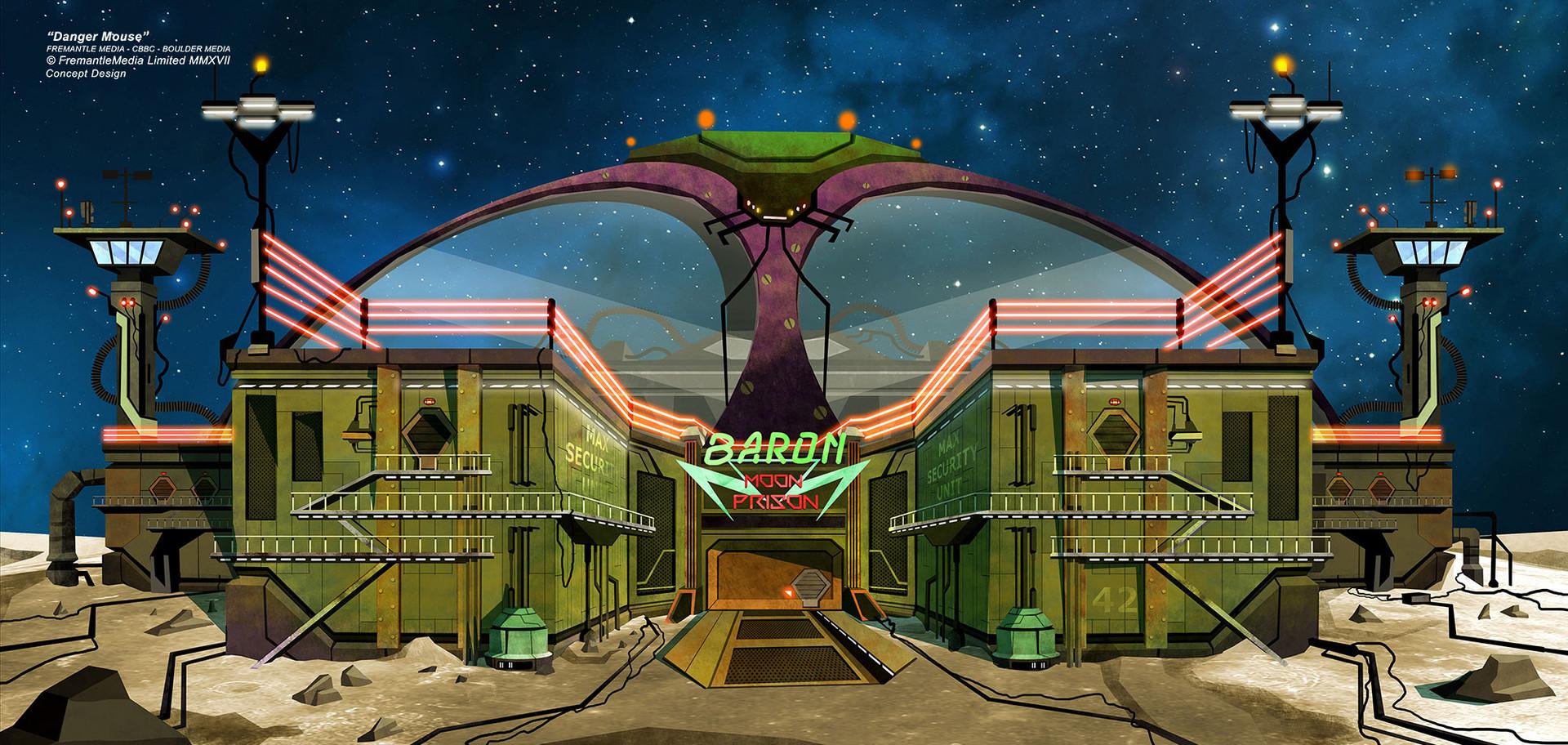 Danger Mouse - Concept Design - Baron Moon HQ