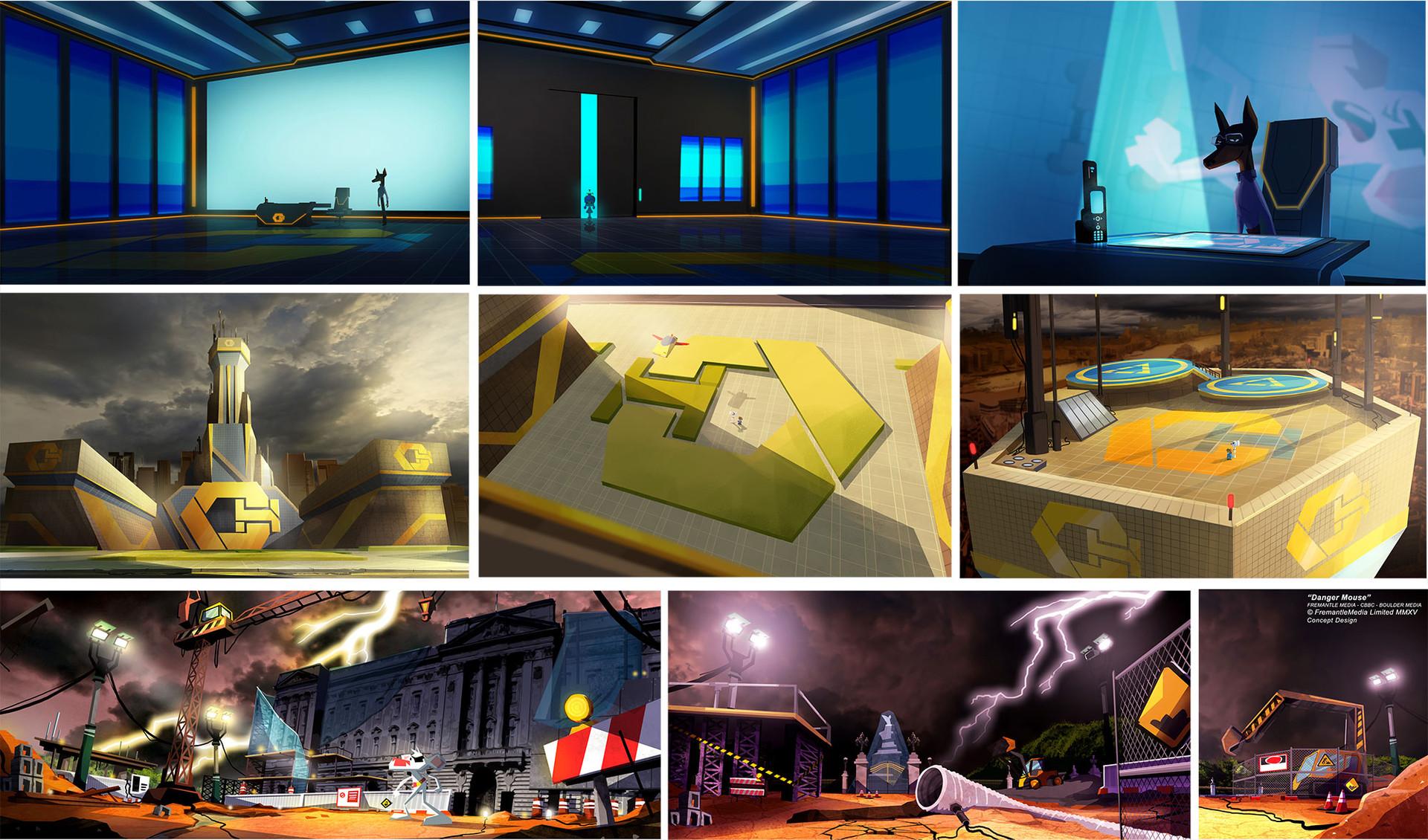 Danger Mouse - Concept Design - Crumhorn HQ