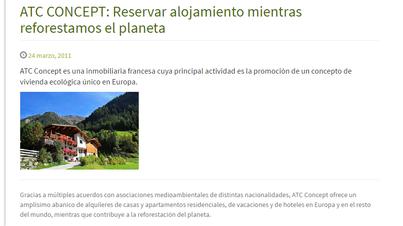 ATC CONCEPT: Reservar alojamiento mientras reforestamos el planeta