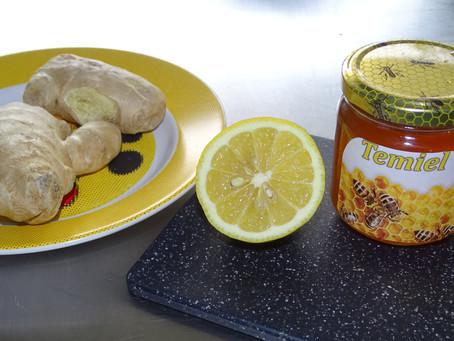 Tisane de Citron, miel bio et gingembre! Détox matinale