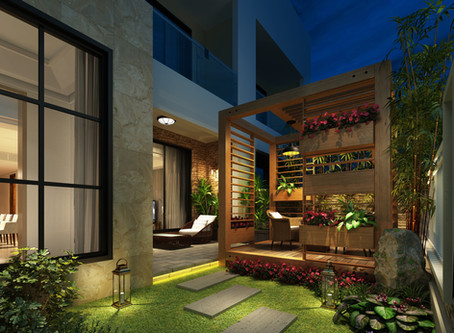 Dans le jardin, la cour ou sur le balcon...