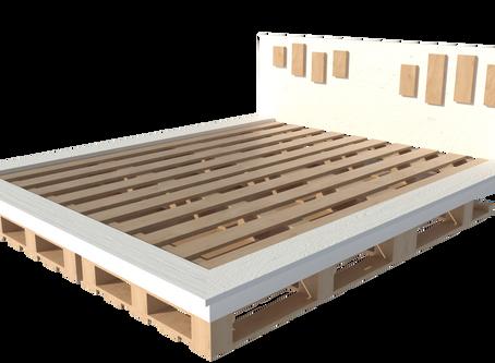 A nice DIY XL bed for less than 100 euros // Modern design