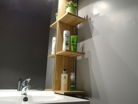 Change your bathroom design with a DIY floating shelf!