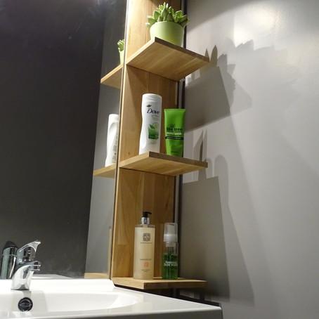 Changez le design de votre salle de bain avec une étagère murale fait-maison