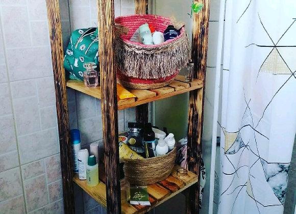 Étagère de salle de bain en palette