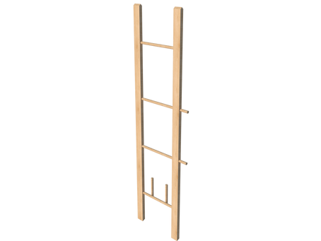 A DIY Blanket/ clothes ladder