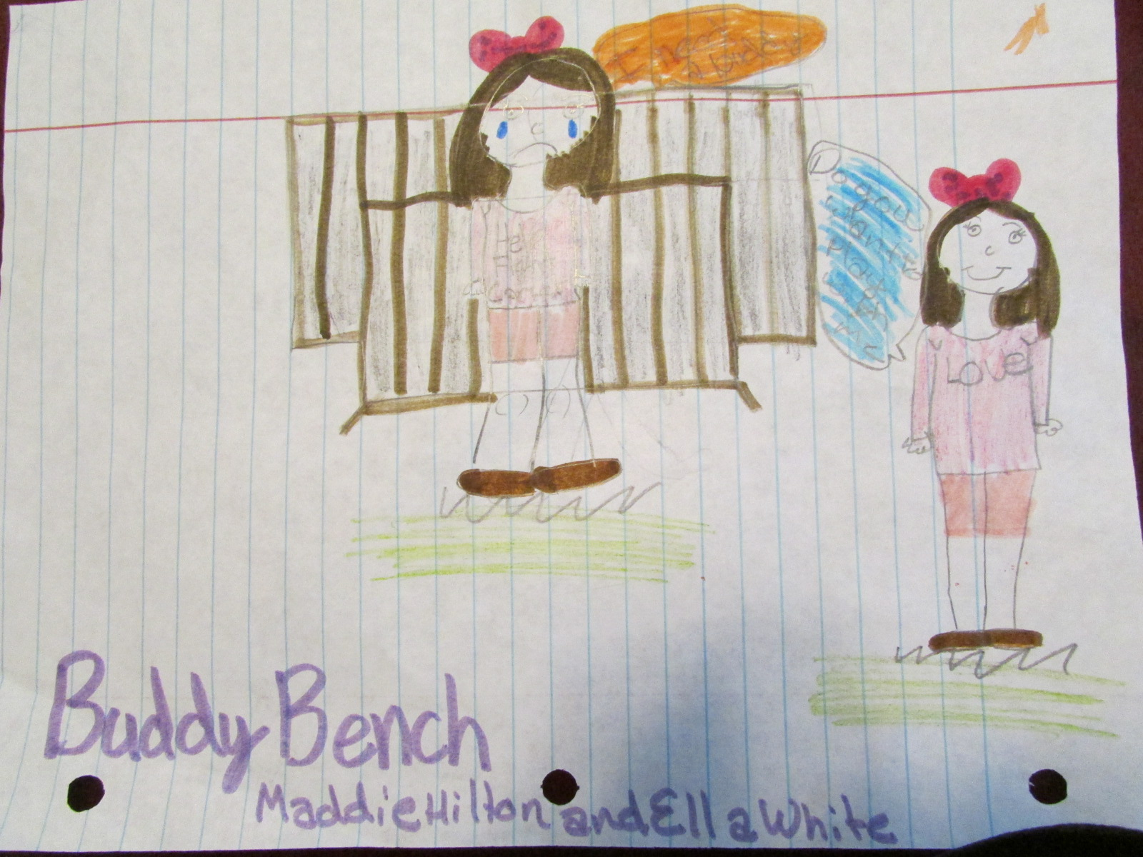 Spout Springs Buddy Bench drawing 10-15
