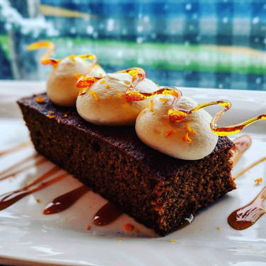Gingerbread with Grand Marnier Mousse