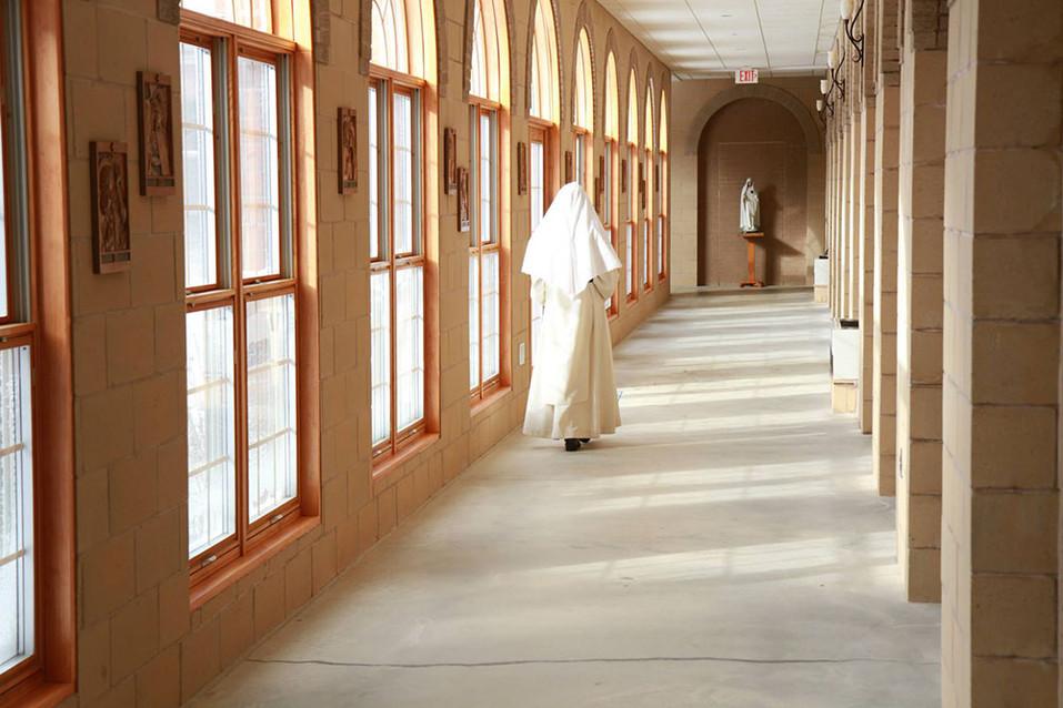 Cloistered nuns at St. Dominic's Monastery in Linden, Virginia.  2014 Linden, Virginia