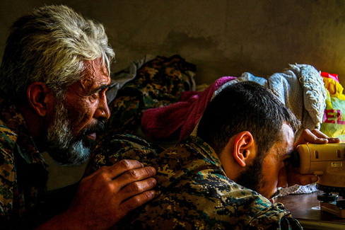 Members of the Syriac Military Council look for ISIS insurgents in northeast, Syria.   2015 Hasakah, Syria