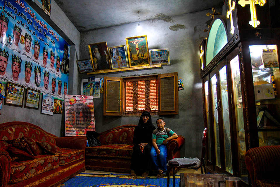 The homes of many of the families of the 21 Coptic Christian martyrs beheaded by ISIS in Libya in 2016 have become shrines and pilgrimage sites.  2017 al-Our, Egypt