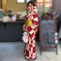 9月のお客様コーデ🎶__今回は、ご近所のお店。_#かめ乃足 さんの_撮影用モデ