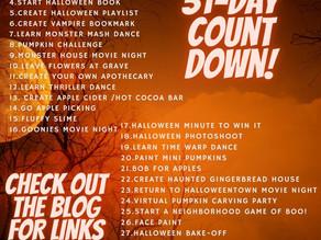 31 Days to  Celebrate Halloween
