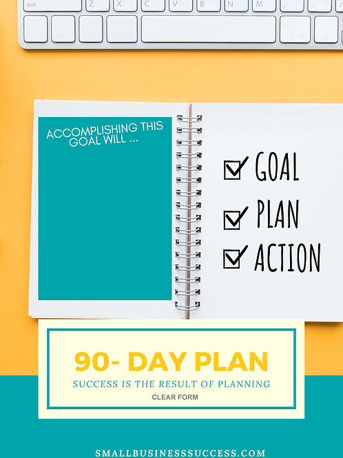 90 Day Goal Business Planner